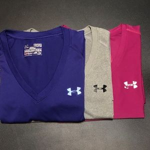 Under Armour Women's Size Med Athletic Tops BUNDLE